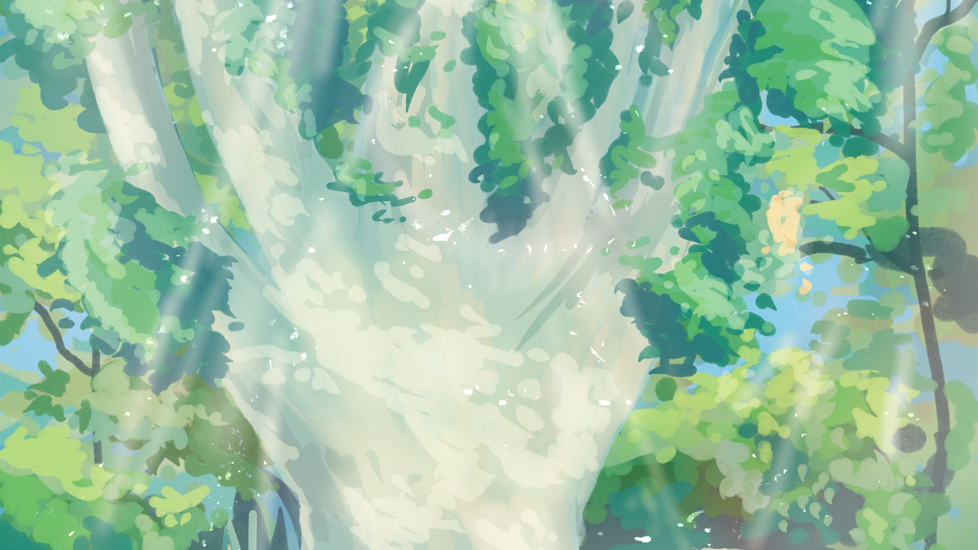 Forest World No 5 | Draw With Me | Procreate Timelapse