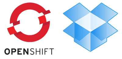 backup openshift to dropbox