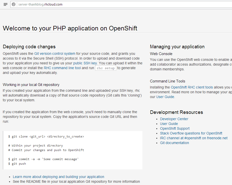 PHP installed successfull