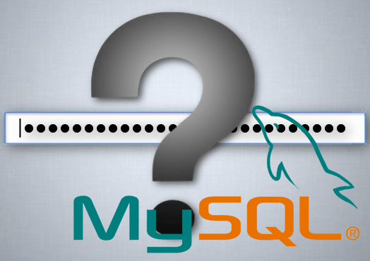 Reset MySQL password