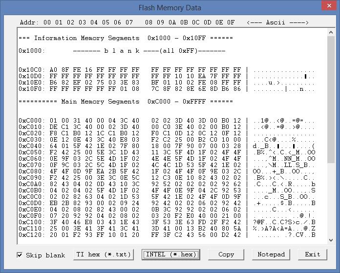 Nội dung MCU được đọc lên