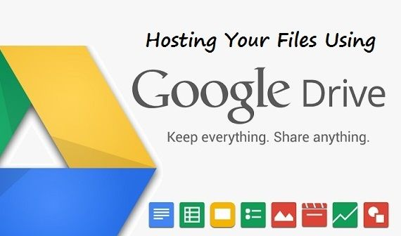 Hosting your files using Google Drive