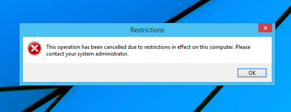 Restrictions Error