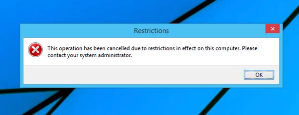 Restrictions Error