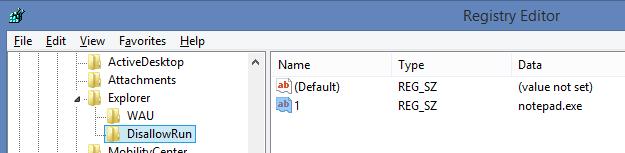 Tạo danh sách phần mềm bị chặn