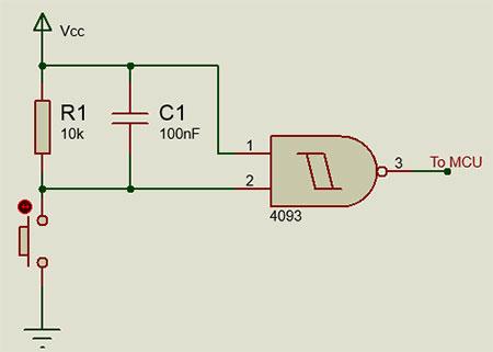 Sử dụng cổng NAND để chống rung