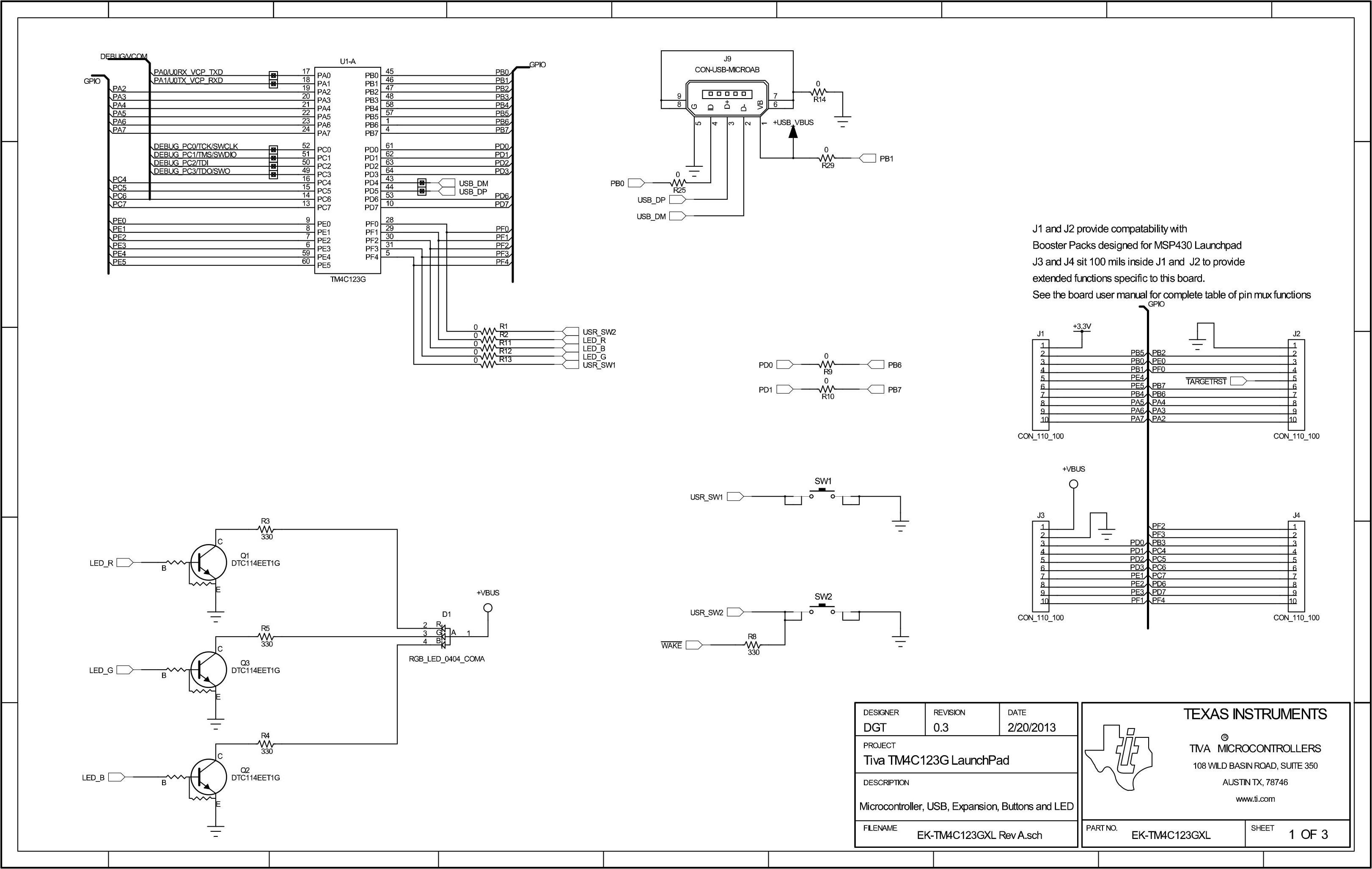 TivaC LaunchPad SCH 1