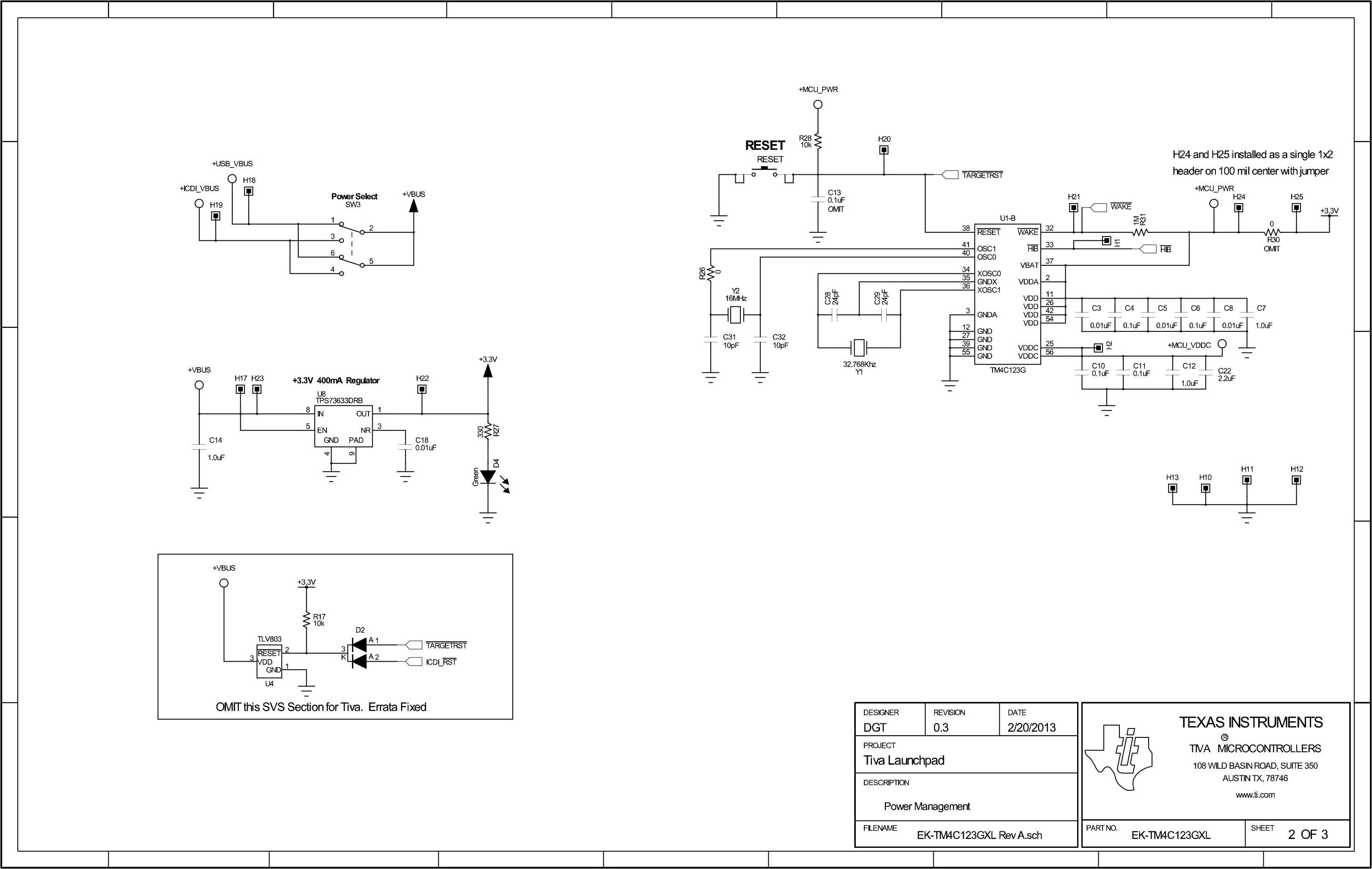 TivaC LaunchPad SCH 2
