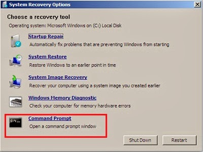 Chọn Command Prompt