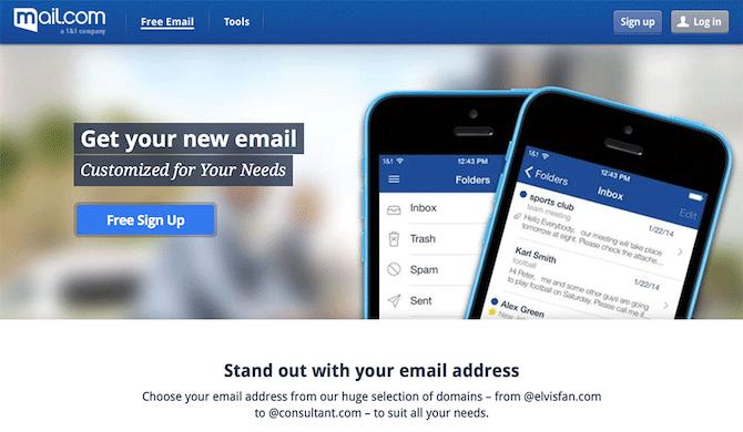 Dịch vụ mail.com