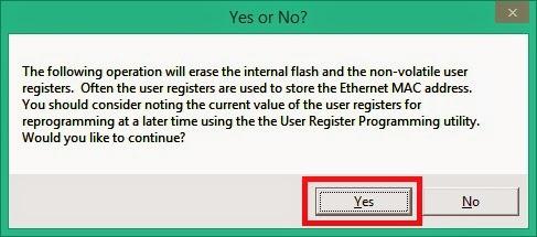 Nhấn Yes để đồng ý