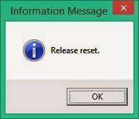 Nhả nút Reset