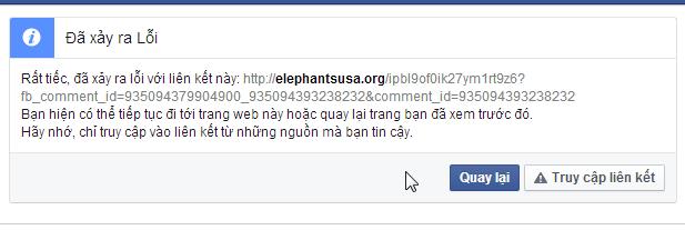Cảnh báo của FB
