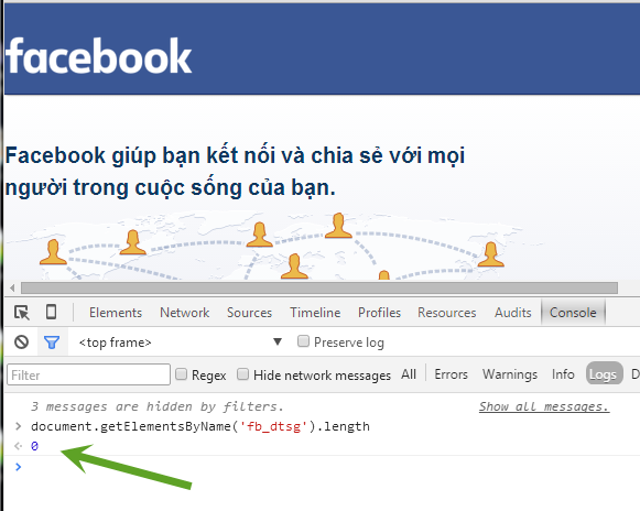 Kiểm tra nạn nhân đăng nhập FB chưa