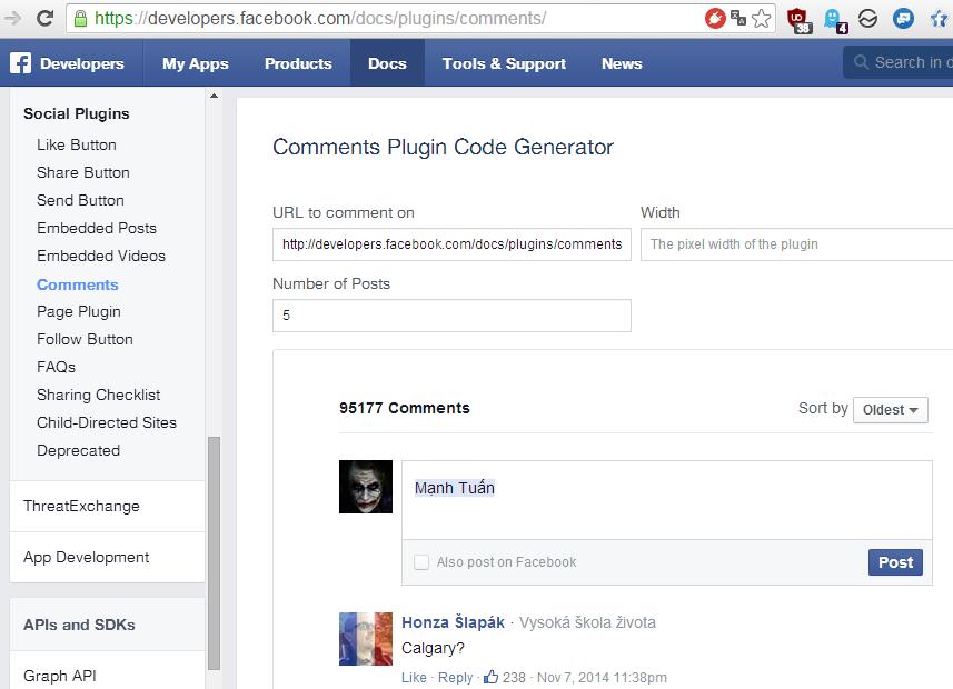 Sử dụng cả API của FB
