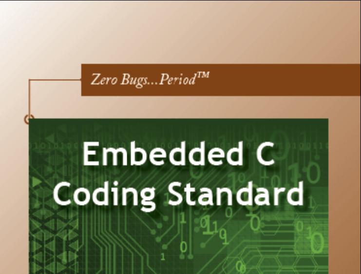 Embedded C Coding Standard - Michael Barr (Code C theo chuẩn)