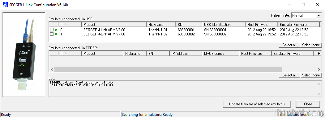 Jlink Configuration nhận mạch ngon