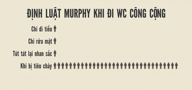 Định luật Murphy khi đi WC công cộng