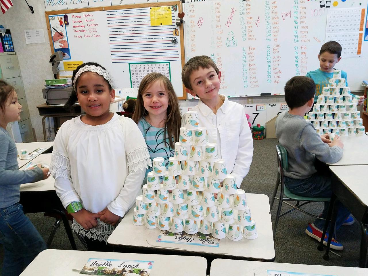 Building Cup Pyramids