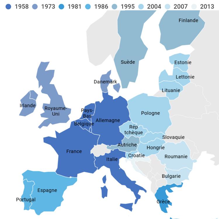 Pays membres de l'Union européenne, par date d'adhésion