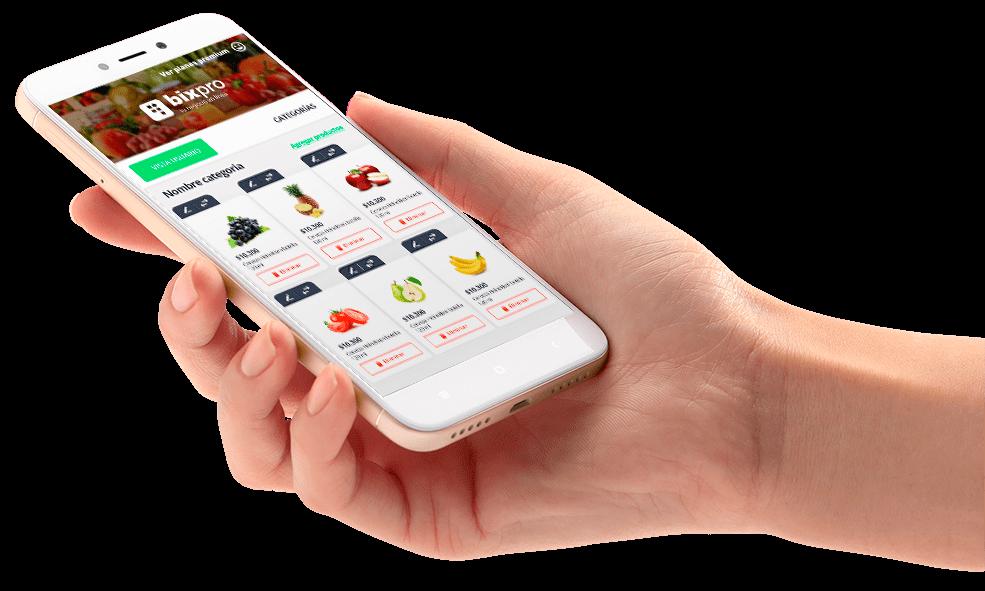 Bixpro, vende mediante un canal de app móviles