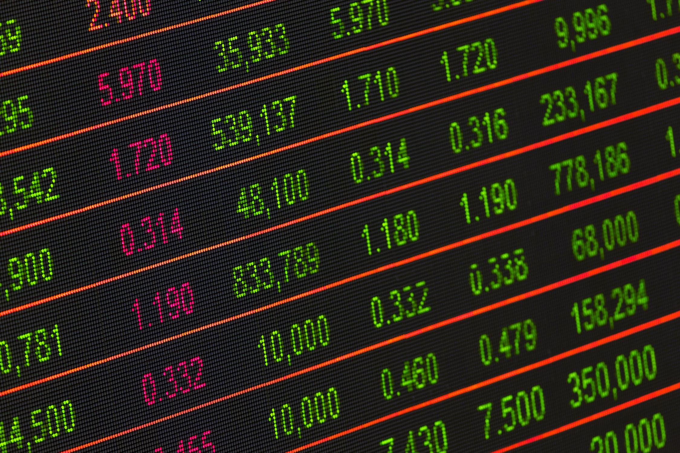 Wereldwijde financiële dalingen