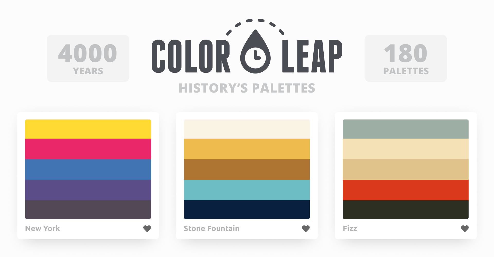 History's Palettes