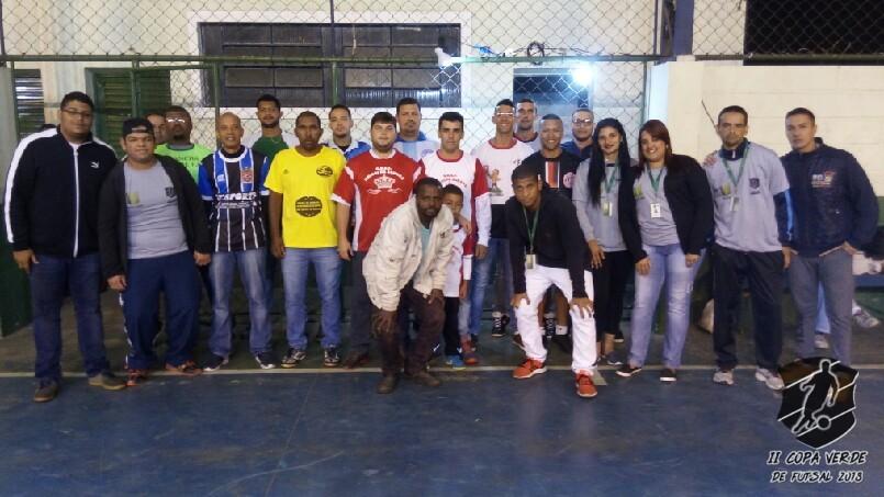 Copa Verde de Futsal 2018 - Equipe organizadora e representantes das equipes.