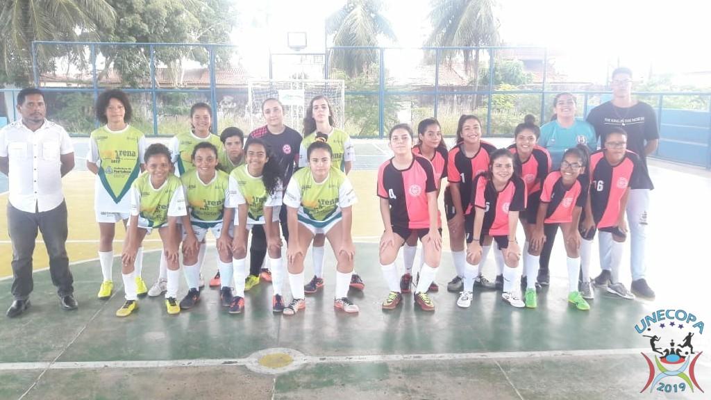 UNECOPA 2019 - jogo pela 2° Rodada do futsal feminino.