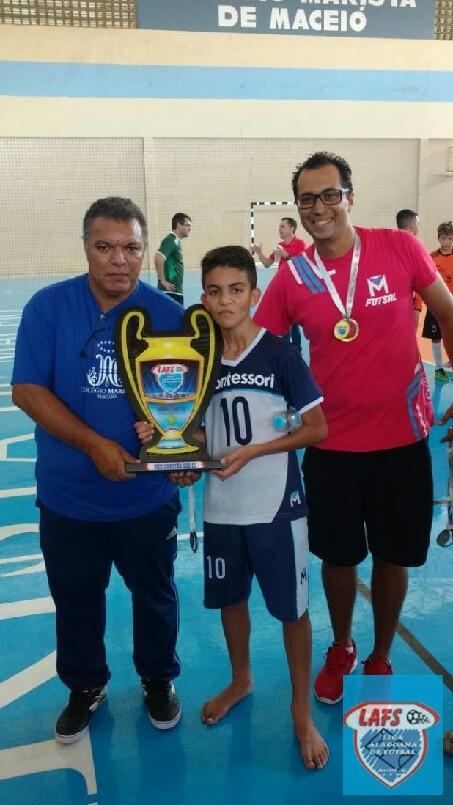 LIGA ALAGOANA DE FUTSAL  - entrega do troféu ao vice campeão sub 13   2018