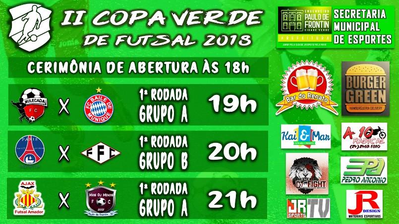 Copa Verde de Futsal 2018 - É HOJE!!!