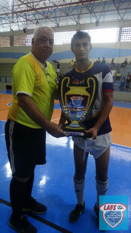 LIGA ALAGOANA DE FUTSAL  - entrega do troféu  ao vice campeão do sub 15 - Intensivo