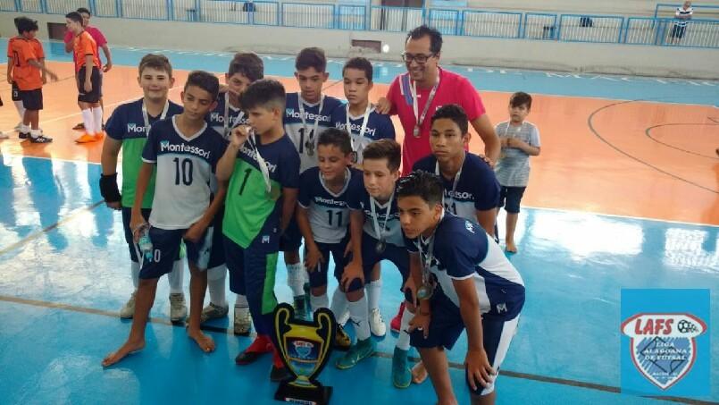 LIGA ALAGOANA DE FUTSAL  - Montessori  vice campeã  sub 13