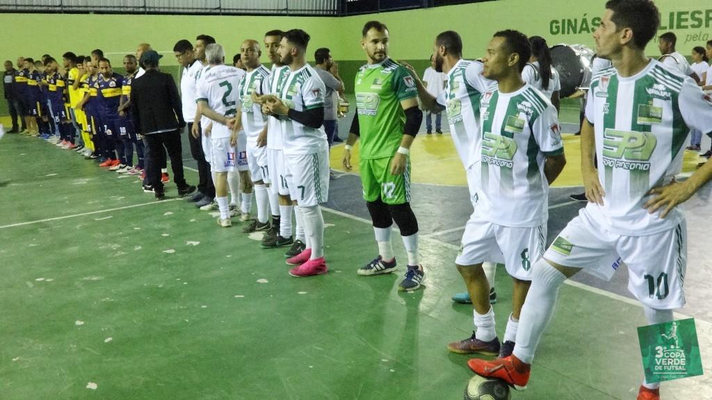 Copa Verde de Futsal 2019 - O Amistoso terminou empatado em 3x3 entre o campeão Burger Green e a Seleção do Esporte Frontinense.