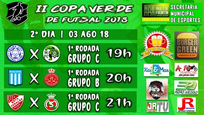 Copa Verde de Futsal 2018 - Grandes jogos hoje pra você curtir!!!