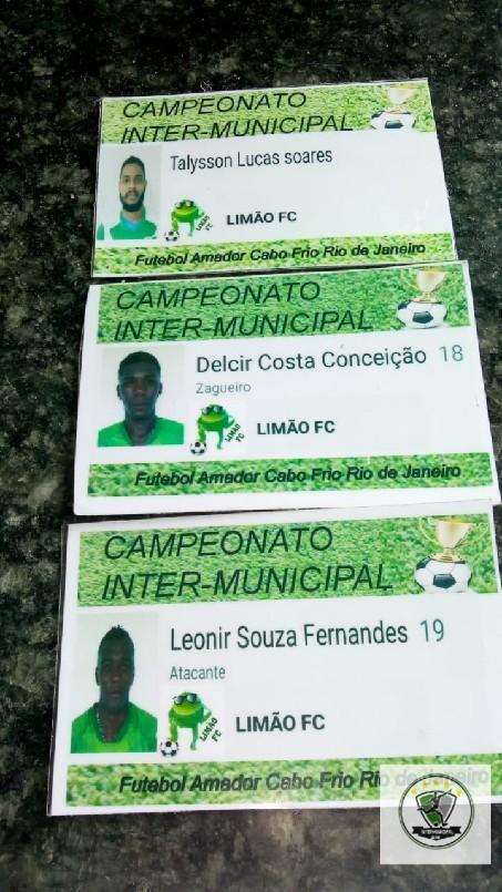 Campeonato Intermunicipal 2018 - Jogadores expulsos (limão)