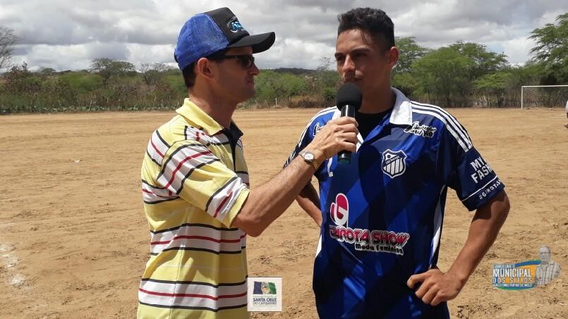 CAMPEONATO MUNICIPAL DE FUTEBOL DOS SÍTIOS AUGUSTINHO RUFINO DE MELO  - Entrevista Davidson Autor do Gol