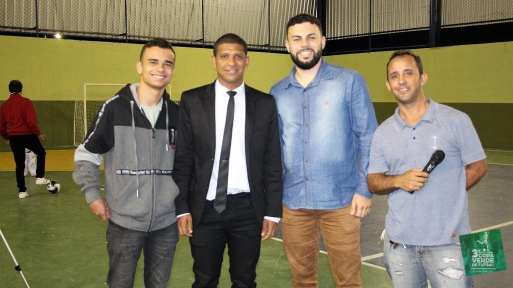 Copa Verde de Futsal 2019 - Equipe JR Sports com o Secretário Gabriel Lourenço e o apresentador Marcelinho!