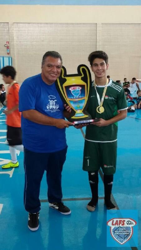 LIGA ALAGOANA DE FUTSAL  - entrega da premiação ao Capitão do Intensivo campeão sub 13