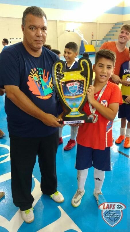 LIGA ALAGOANA DE FUTSAL  - Entrega do troféu ao vice campeão sub 11