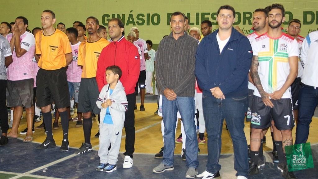 Copa Verde de Futsal 2019 - Prefeito Jauldo Neto; Vereador Moisés Rocha e Kaio Balthazar (Presidente da Câmara Municipal)