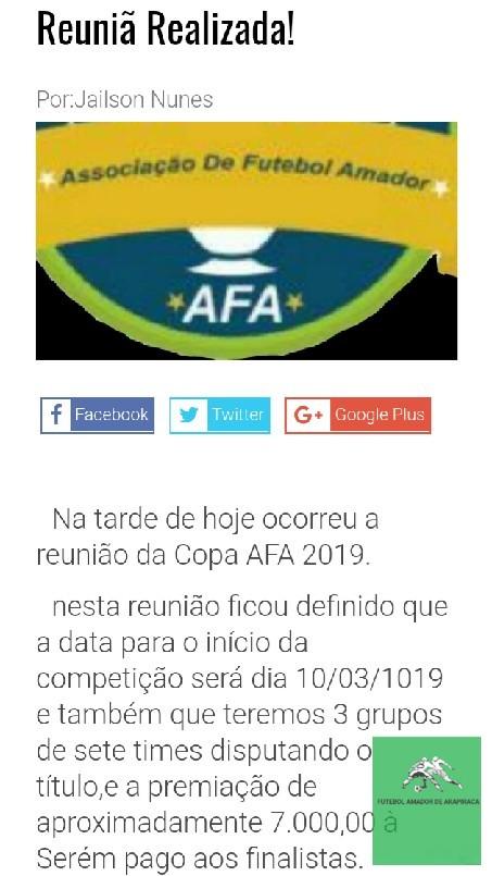 Futebol Amador De Arapiraca 2019 - Mas uma grande competição em Arapiraca!