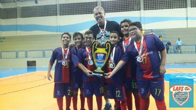 LIGA ALAGOANA DE FUTSAL  - Sacramento vice campeão do sub 9