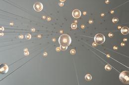 Low angle photography of drop lights. Photo by Skye Studios on Unsplash