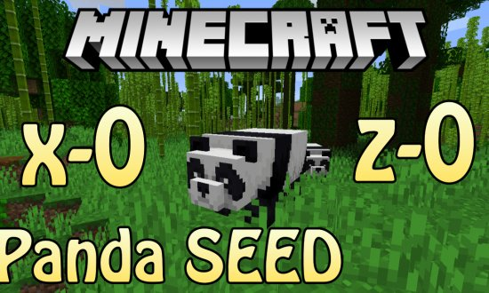 MINECRAFT PANDAS IN BAMBOO FOREST AT SPAWN MINECRAFT SEED -6007508716048973791