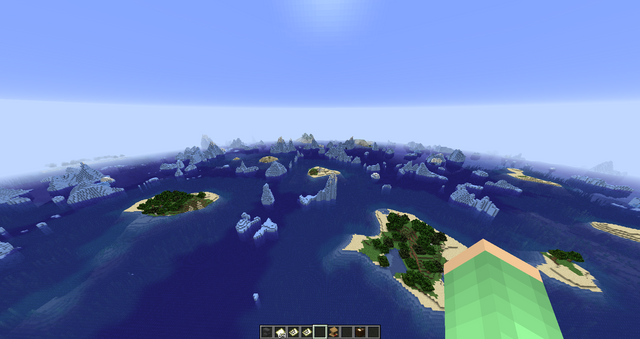 Small islands scattered across Frozen Ocean MINECRAFT SEED -4870556730324094220