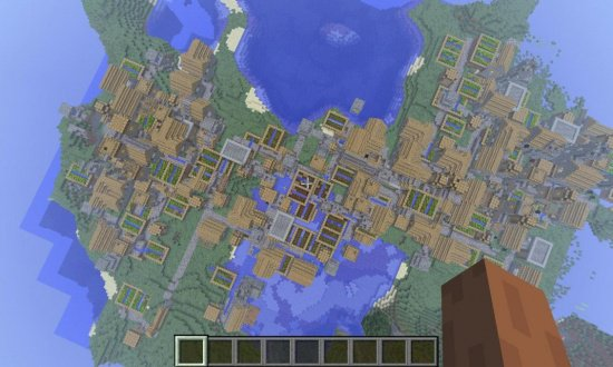 HUGE VILLAGE MINECRAFT SEED 88974602297265413