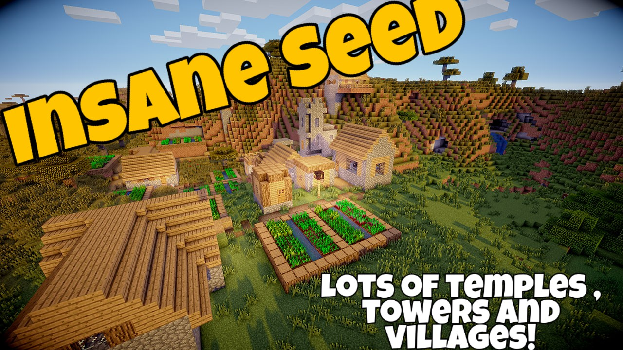 The BEST Minecraft Seed 1.14 MINECRAFT SEED 3509073252499524635