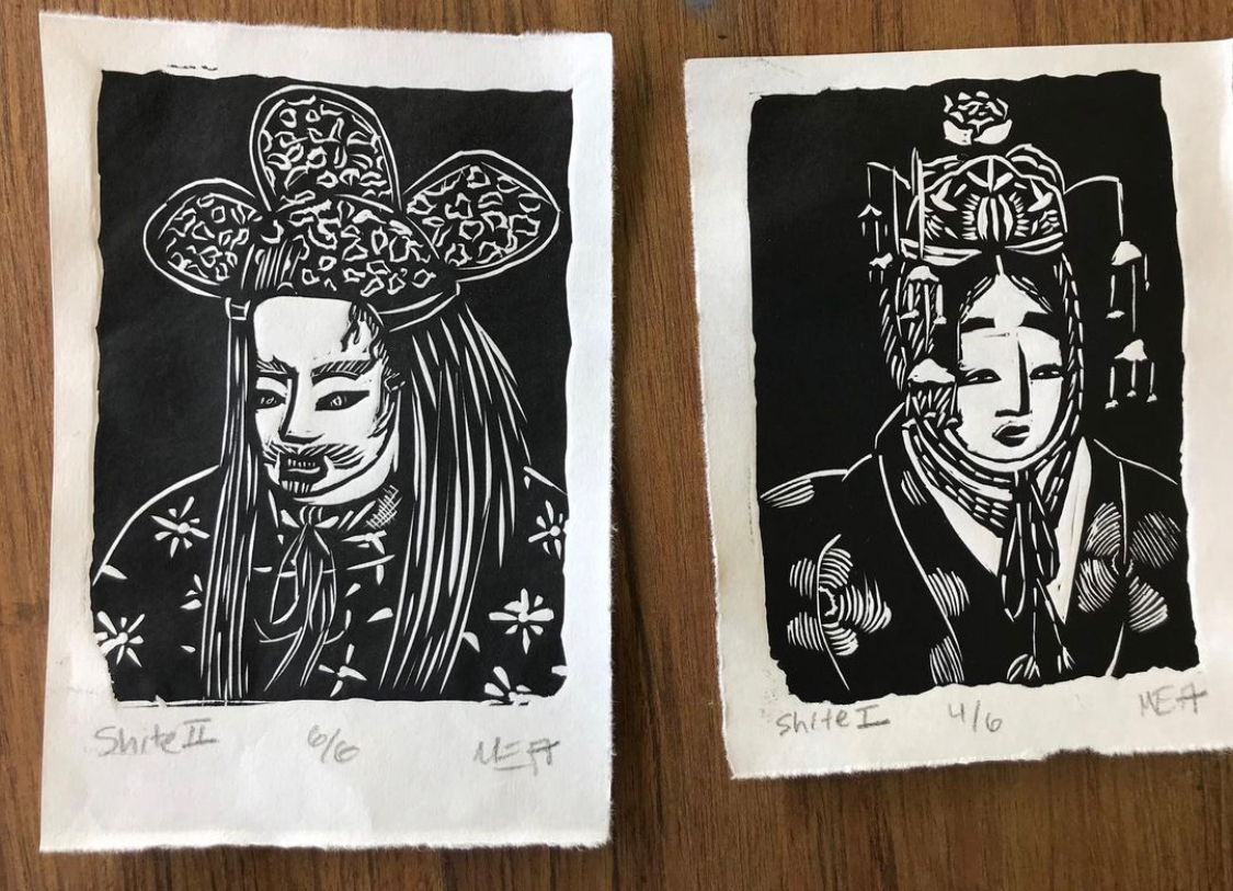 Two Noh Theater Prints