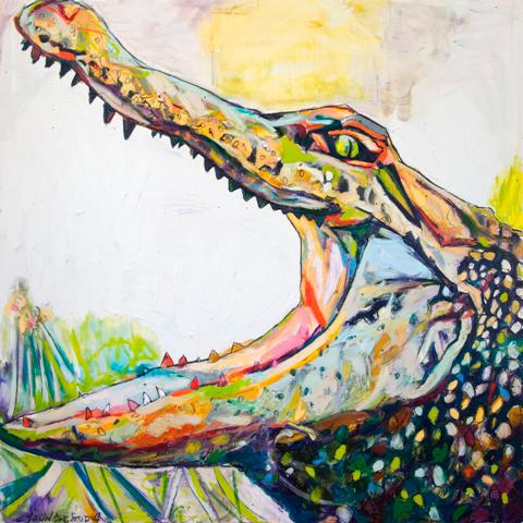 Big Mouth Louisiana Alligator